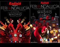 Carteles dos años consecutivos Feria Andalucia