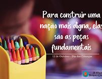 Edição de imagem. E-mail marketing Dia das Crianças