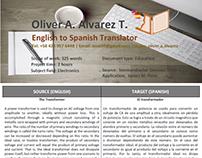 Sample Translation 3 (The Transformer)