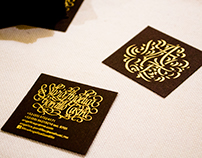 Calligraphic business card