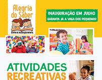 Flyer de divulgação - Centro Recreativo Infantil