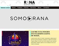 Diseño Web y gráfica para Rana, agencia de publicidad.