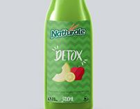 Rótulo para suco natural. Natural Juice bottle label.