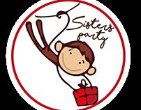 Creación de logotipo y letreros. Sisterparty.
