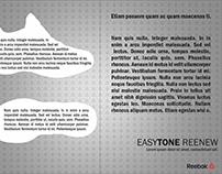 Material Publicitário EasyTone Reenew