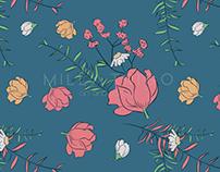 Blue Spring - Pattern Design