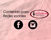 Contenido para redes sociales - Lili Cardenas Modas.
