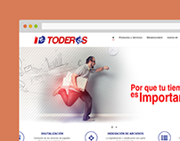 Toderos.com made with WordPress and theme from scratch.