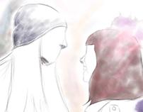 Ilustração de um olhar