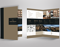 Diseño folleto díptico