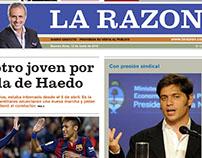 """Rediseño Diario """"La Razón"""""""