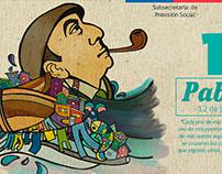 Cartel digital Aniversario Neruda
