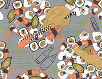 Sushi textil