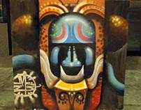 "Live Painting: ""Máscara Patriotiboruca"""
