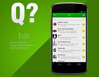 Q bar - App design