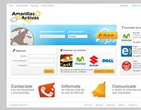 Diseño de sitio web Amarillas Activas y logotipo