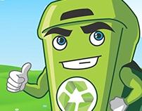 Design de Personagem - Mascote Zéciclagem