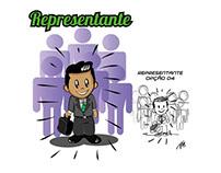 Ilustrações para projeto Editorial