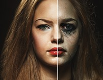 Retouching - Model art (estudo)