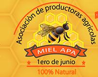 Creación de etiqueta para miel APA