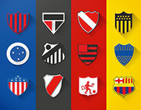 Escudos Conmebol & Clubes - Flat Design