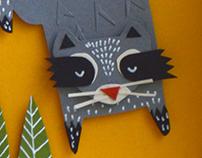 Zorro & Mapache - Paper cut project