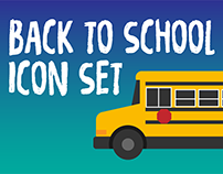 BACK TO SCHOOL / ICON SET 2017