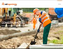 Web design for http://www.ndingenieria.com.ar
