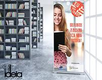 Banner para incentivar doação de livros.