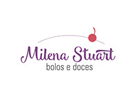 Logo Milena Stuart bolos e doces