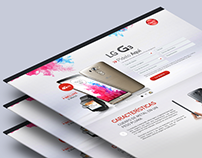 Landing Page for LG G3