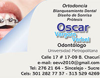 Tarjeta Comercial Oscar Vergara