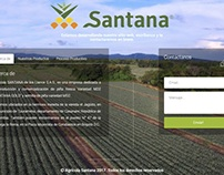 Landing Page - Agricola Santana