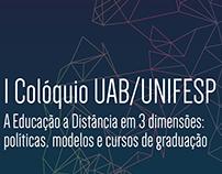 Cartaz Colóquio UAB/UNIFESP