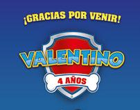 cumple Valentino, Paw Patrol