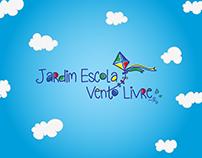 Logotipo e cenário para escola infantil