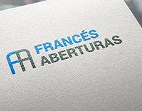 Aberturas Francés, diseño de logo, papelería y redes