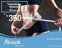 Campaña para Atrévete Salon & Spa (Celeste)