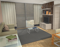 Living Room, 3D Modeling