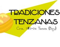 Logo, empaque y folleto Tradiciones Tenzanas