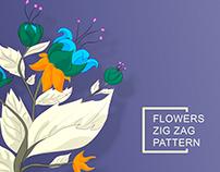 FLOWERS ZIG ZAG PATTERN