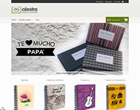 """Diseño Tienda Virtual """"Alestra Ediciones"""""""