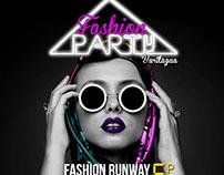 Flyer para evento de moda