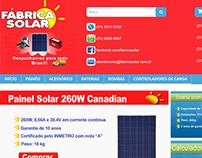 Loja Virtual Fábrica Solar