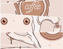 Coffee (Ilustração para estampas).