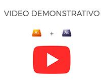 Vídeo demonstrativo - After effects + Adobe Ilustrator