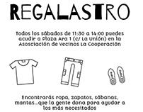 """Cartel sobre """"Regalastro"""" (colaboración)"""