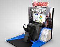 BTL Avengers Samsung- Modelado 3d y troquel de caja.