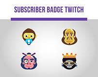 Subscriber Badge Twitch • Leko