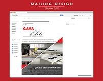 Gama Elite Mailing Design
